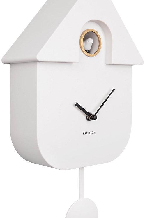 Karlsson Modern Cuckoo Clock - White
