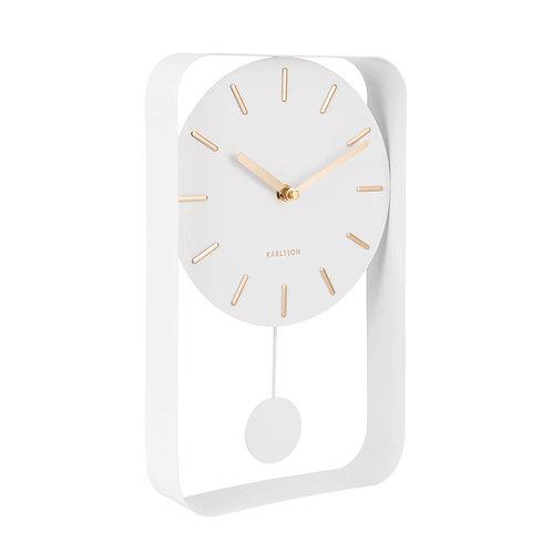 Charm Pendulum Clock by Karlsson - White