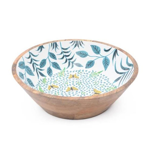 Wooden Bowl (Large) - Butterflies & Leaves