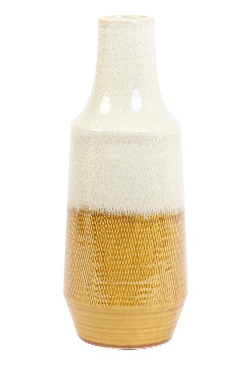 Deco Vase - Creme and Yellow - Medium