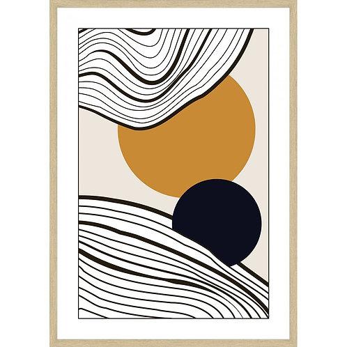 """Simplicity; Circles and Rings"" - Framed Art Print"