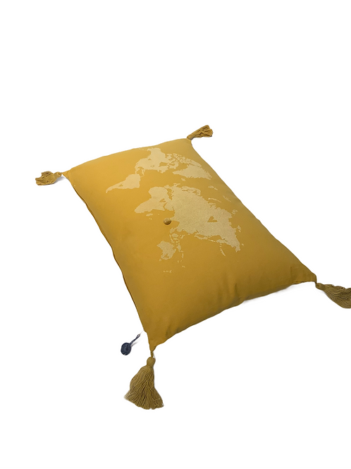 Made on Point Pillow - Yellow