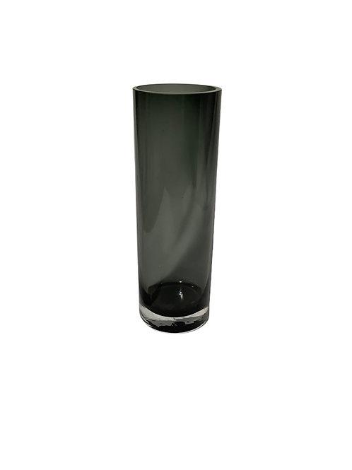 Cold Cut Black Cylinder Vase