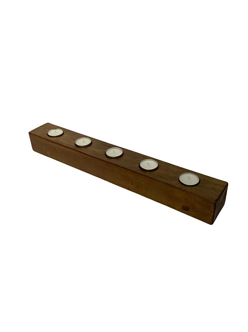 Factory Block Tealight Holder - Recycled Wood