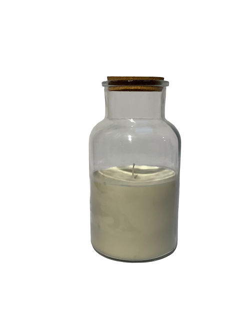 Jar Candle Lisse White