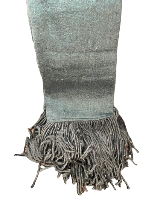 Teal Mohair with Fringe Throw