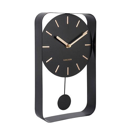 Charm Pendulum Clock by Karlsson - Black