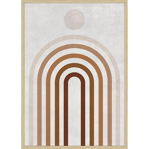 """""""Upside Curves"""" - Framed Art Print"""
