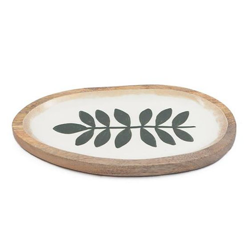 Olive Branch Serving Tray - Mango Wood - Large