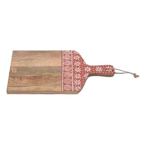 Wooden Cutting Board - Red & White