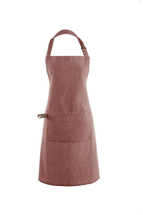 Myrna Apron - Rust & Leather