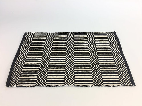 Cotton Rug Black and White