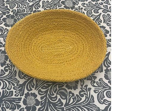 Jute Tray - Fair Trade - Gold