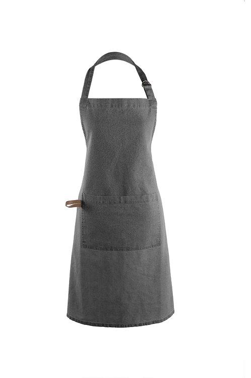 Myrna Apron - Charcoal & Leather
