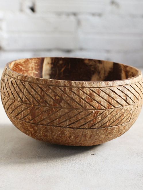 """Coconut Bowl """"Aztec"""" (Large)"""