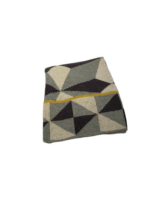Grafi Throw - Gray & Yellow Wool
