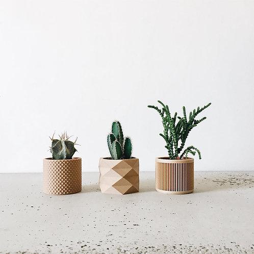 3 Mini Vases: Piko, Diamant, Japan