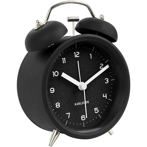 Karlsson Alarm Clock Iconic - Black