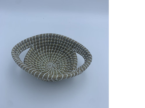 Kaisha Grass & Jute Basket - Fair Trade - White