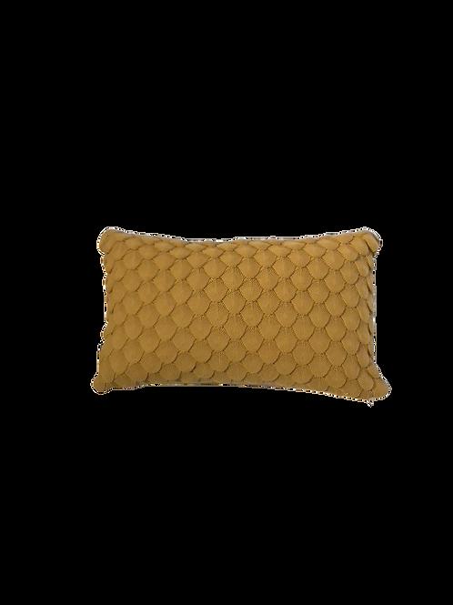 Gold Scallop Cushion