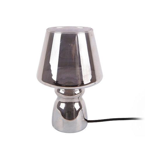 Glass Chrome Table Lamp