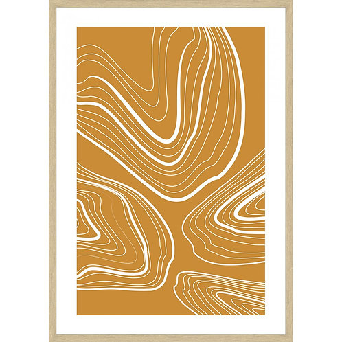 """""""Stretched Rings"""" - Framed Art Print"""