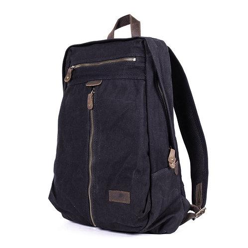Denali Backpack - Waxed Canvas - Noir