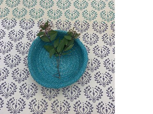 Jute Plate - Fair Trade - Turquoise