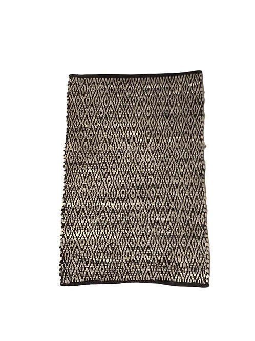 Leather & Cotton Rug - 60x90