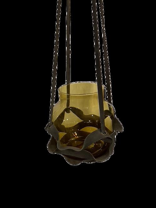 Leather Plant Hanger - Gray