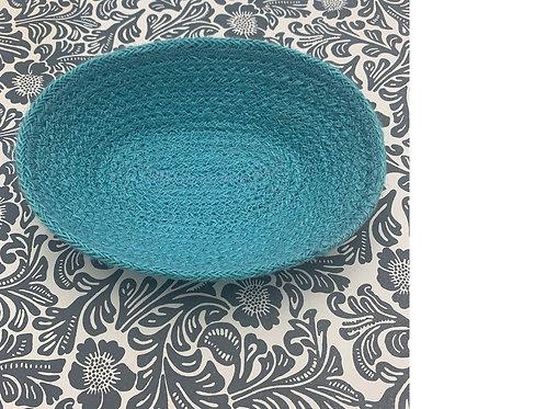 Jute Tray - Fair Trade - Turquoise