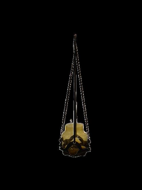 Leather Plant Hanger - Cognac