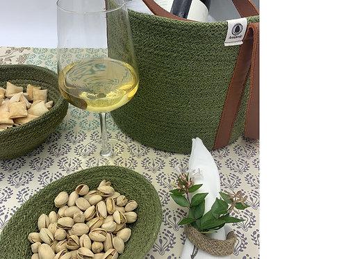 Jute Tray - Fair Trade - Green