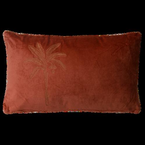 Palm Cushion - Terra Cotta