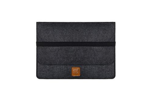 15-inch charcoal gray eco-felt computer bag