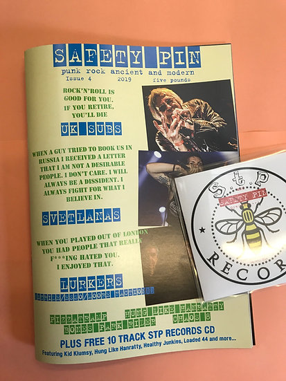 Safety Pin Issue 4 + STP Records CD