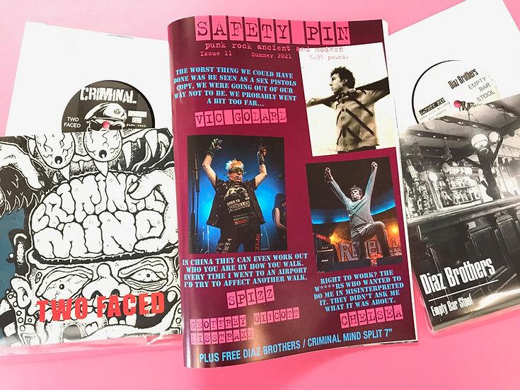 """Safety Pin #11 with Diaz Brothers / Criminal Mind split 7"""""""