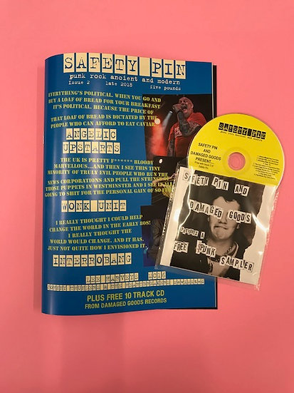 Safety Pin Issue 2 + 10 track Damaged goods Records CD