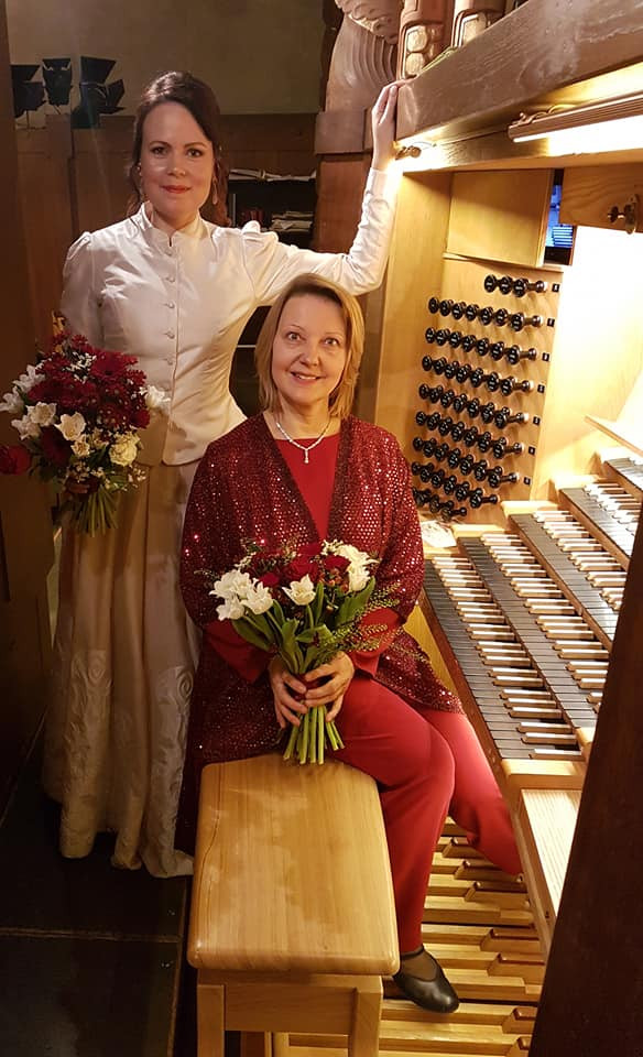With soprano Inga Šļubovska-Kancēviča at Engelbrekts churche