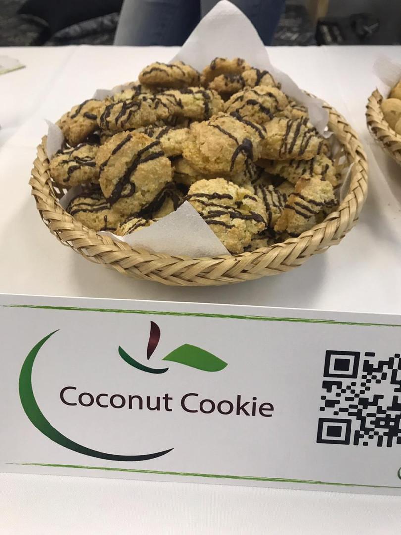 Cookie de coco e chocolate