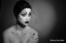 B&W Dramatic Makeup