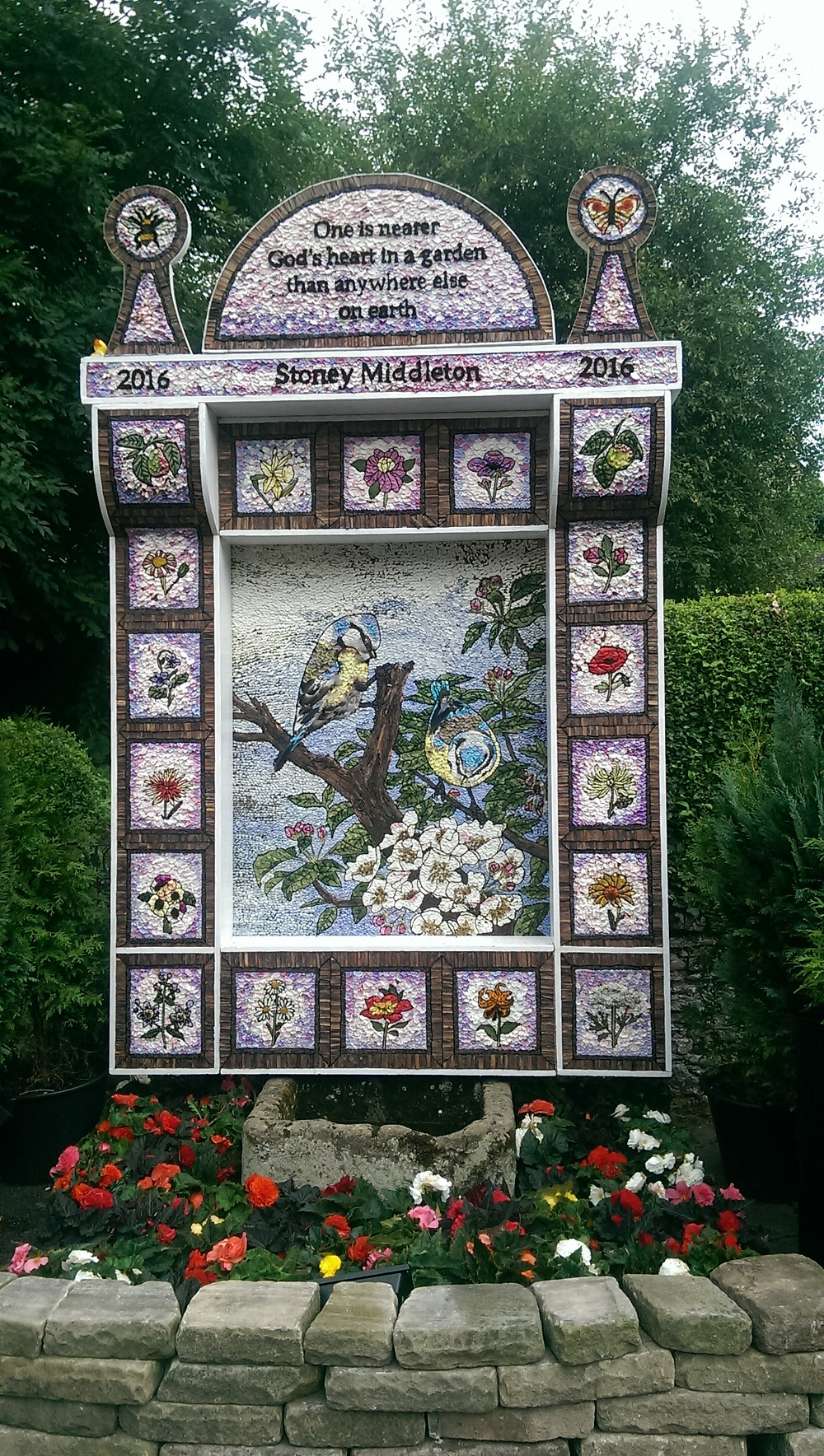 Well Dressing at Stoney Middleton in the Peak District 2016