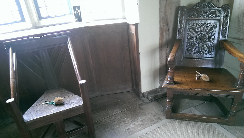 furniture at Haddon Hall, Peak District