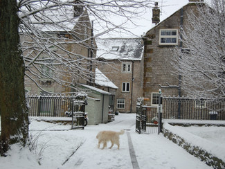 Snow arrives in Tideswell Winter 2016!