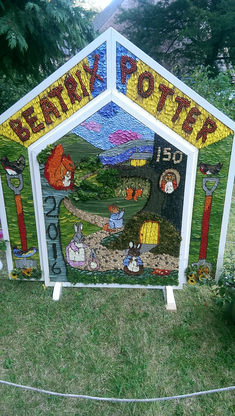 Children's Well Dressing at Wormhill Beatrix Potter
