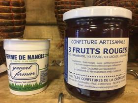 Yaourt fermier et sa confiture artisanale