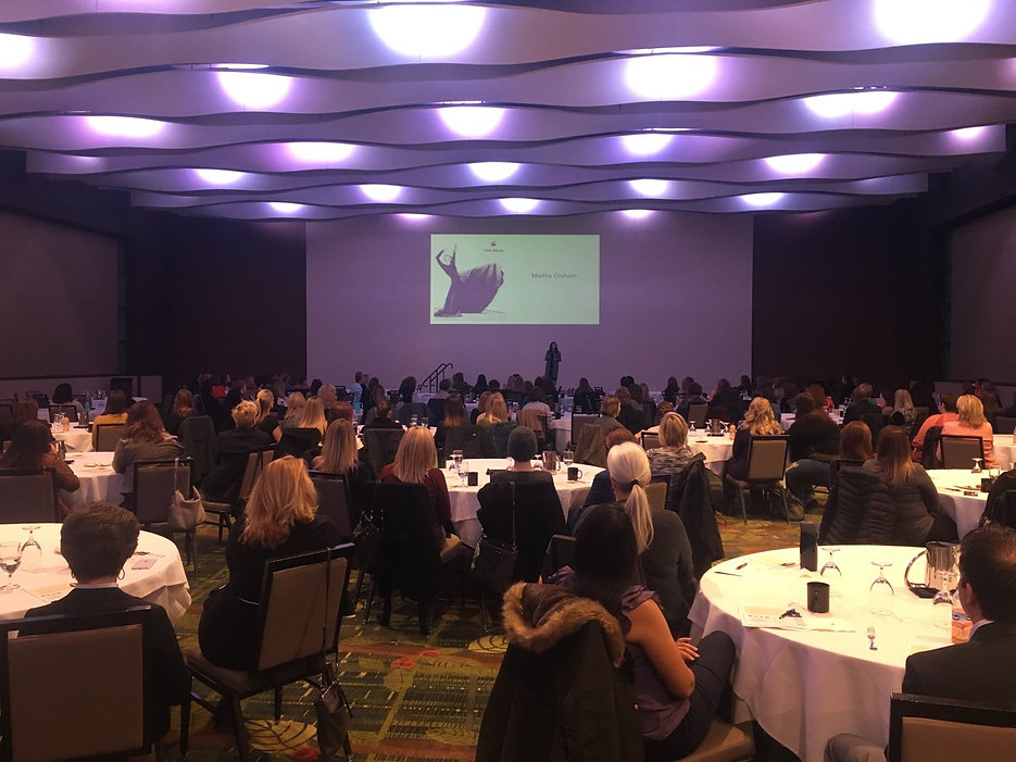 Speaking engagement with crowded room