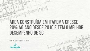Área construída em Itapema cresce 20% ao ano desde 2010 e tem o melhor desempenho de SC