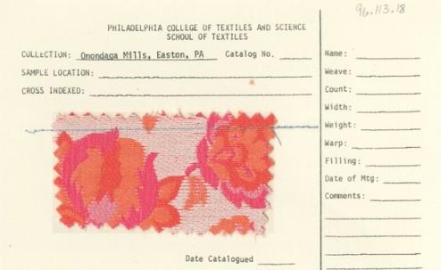 Onondaga Silk Mills, Vogelman, orange, pink