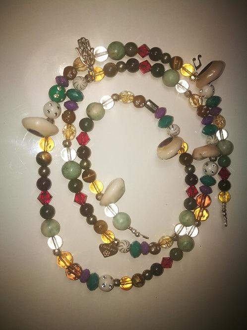 Abundance crystal waist beads sterling slilver